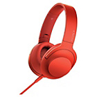 Sony h.ear on MDR100AAPR Headphones - Red