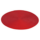 more details on Woven Set of 4 Round Placemats - Red.