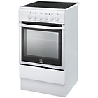 more details on Indesit I5VSHW Freestanding Cooker - White