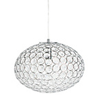 more details on Orla Oval Ceiling Pendant - Chrome.