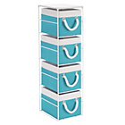 more details on 4 Drawer Storage Unit - Blue and White.