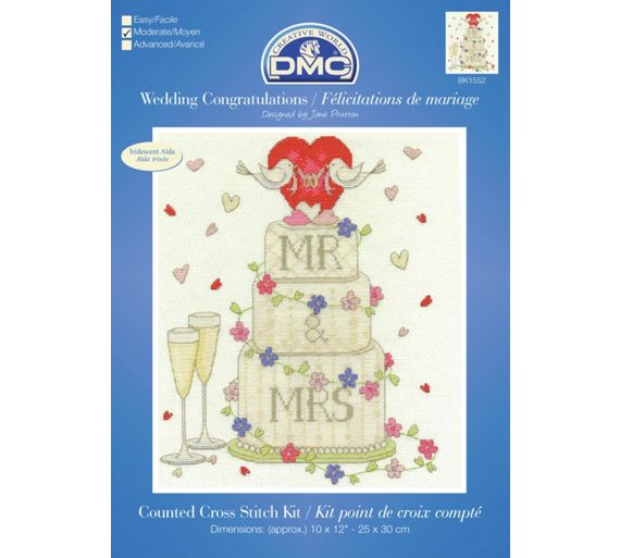 Buy Wedding Congratulations Cross Stitch Kit at Argos.co.uk - Your ...
