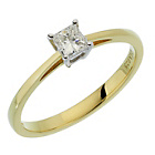 more details on 18ct Gold 0.25ct Diamond Princess Cut Solitaire Ring.