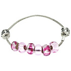 more details on Miss Glitter S.Silver Kids Made Up Pink Bracelet w/ Stopper.