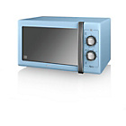more details on Swan SM22070BLN Standard Microwave - Blue.