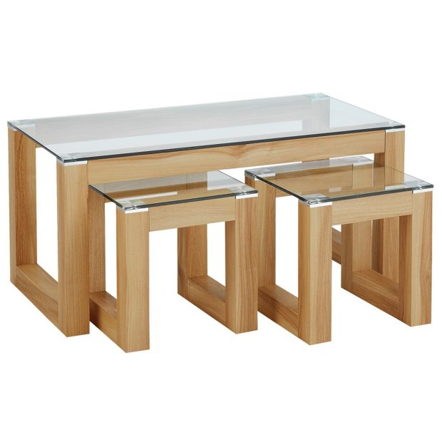 Glass Coffee Tables Argos: Buy Hygena Cubic Coffee Table Set With 2 Side Tables At