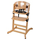 more details on East Coast Nursery Contour Highchair - Natural.