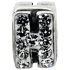 more details on Miss Glitter S.Silver Kids Stone Set Alphabet Charm - H.