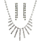 more details on Link Up Diamante Collar Necklace and Earrings Set.