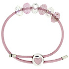more details on Miss Glitter S.Silver Kids Heart Clasp Made Up Pink Bracelet
