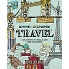 more details on Inspired Colouring Adult Colouring Book - Travel.