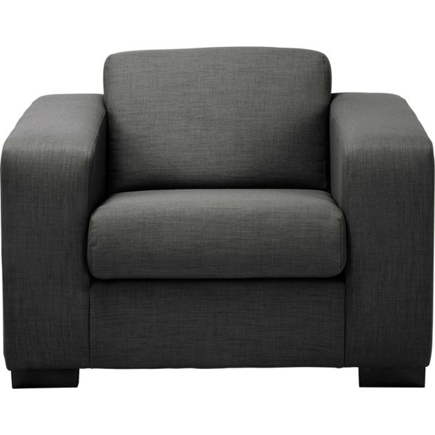 buy hygena new ava fabric chair charcoal at. Black Bedroom Furniture Sets. Home Design Ideas