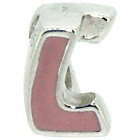 more details on Sterling Silver Kids Enamel Letter Charm - L.