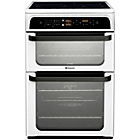 more details on Hotpoint Ultima HUI62T P Freestanding Cooker - White