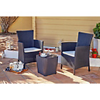 more details on Iowa Rattan Effect 2 Seater Bistro Set - Graphite.