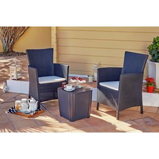 Iowa Rattan Effect Bistro Set - Argos