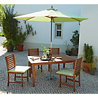 more details on The Collection Madison 4 Seater Wooden Patio Set - Green.