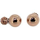 more details on Link Up Rose Gold Coloured Glitter Ball Stud Earrings.