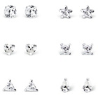 more details on Link Up Sterling Silver Stud Earrings - Set of 6.