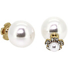 more details on Link Up Flower Pearl Double Stud Earrings.