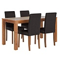 Newton Walnut Stain Dining Table & Chairs