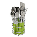 more details on ColourMatch 16 Piece Cutlery Caddy - Apple Green.