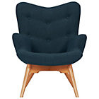 more details on Hygena Angel Fabric Chair - Navy.