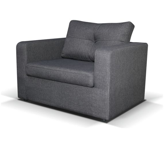 Buy max fabric chair bed charcoal at your for Sofa bed argos