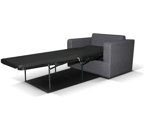 Buy max fabric chair bed charcoal at your for Divan bed frame argos
