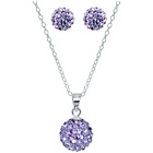 more details on Link Up Sterling Silver Lilac Crystal Pendant and Earrings.