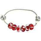 more details on Miss Glitter S.Silver Kids Made Up Red Bracelet with Stopper