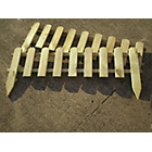 more details on FSC Timber Picket Fence Lawn Edging - Pack of 2.