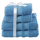 more details on Heart Of House Egyptian Cotton Bale - China Blue