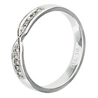 more details on 9ct White Gold 0.10ct tw Diamond Crossover Wedding Ring- 3mm