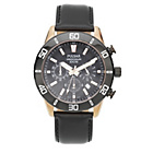 more details on Pulsar Men's Rose Gold Black Dial Chrono Leather Strap Watch