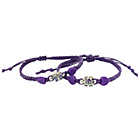 more details on Miss Glitter S.Silver Kids Purple Shambala Bracelets - 2.