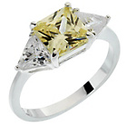 more details on Sterling Silver Yellow and White Cubic Zirconia Ring.