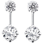more details on Link Up Sterling Silver Crystal Double Front Stud Earrings.