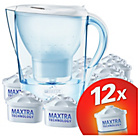 more details on Brita Marella Water Filter Jug and 12 Cartridges - White.