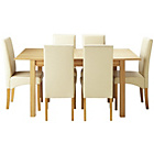 more details on Heart of House Clevedon Ext Table & 6 Cream Skirted Chairs.