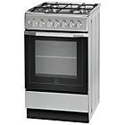 more details on Indesit I5GSH1S Dual Fuel Cooker - Silver.