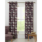 more details on Amble Leaf Unlined Eyelet Curtains - 168x183cm - Plum.