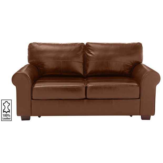 Buy heart of house salisbury 2 seater leather sofa bed for Sofa bed 3 2