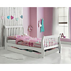 more details on Daisy White Sleigh Bed with Storage & Elliott Mattress.