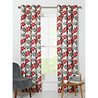 more details on Amble Leaf Unlined Eyelet Curtains - 168x229cm - Red.