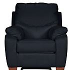 more details on Collection Sorrento Leather Recliner Chair - Black.