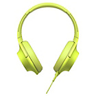 Sony MDR 100 AA PY On Ear Headphones - Lime Green