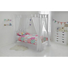 more details on Hearts White Single Four Poster Bed with Elliott Mattress.