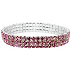 more details on Link Up Diamante Pink Elastic Bracelet.