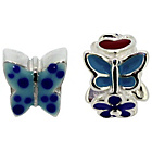 more details on Miss Glitter S.Silver Kids Blue Butterfly/Pple Flower Charms